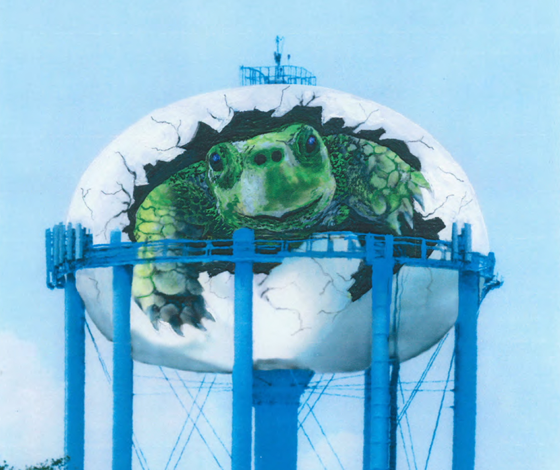 Curlew water tower turtle