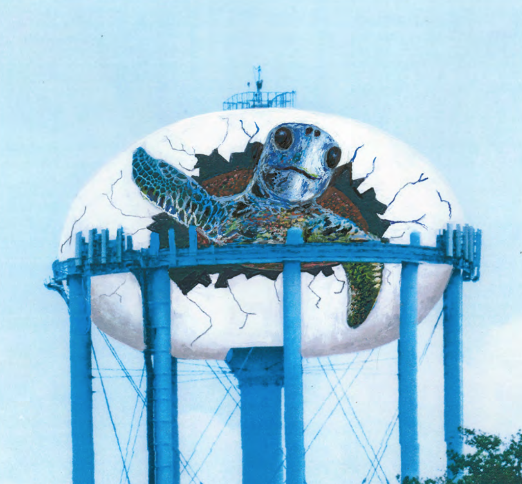 curlew water tower sea turtle